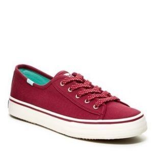 Keds Double Up Jersey Sneakers. Beet Red 8